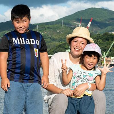 松田はるかさん(37歳) 咲人くん(9歳) あさなちゃん(4歳)